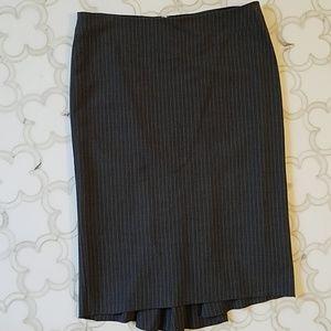 Size 4 pinstripe BCBG tulip skirt